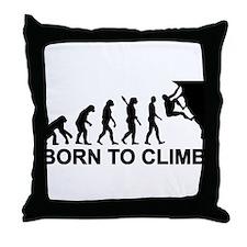 Evolution rock climbing Throw Pillow
