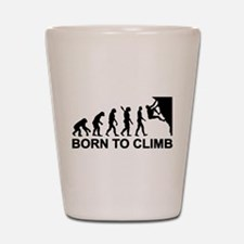 Evolution rock climbing Shot Glass