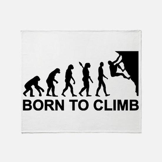 Evolution rock climbing Throw Blanket