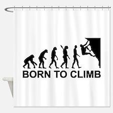 Evolution rock climbing Shower Curtain