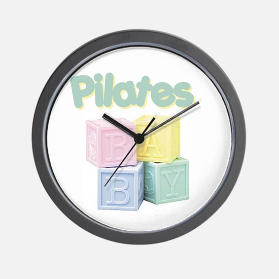 Pilates Baby Blocks Wall Clock