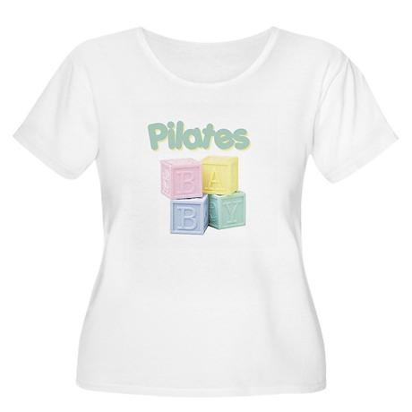 Pilates Baby Blocks Women's Plus Size Scoop Neck T