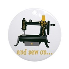 And Sew On... Ornament (Round)