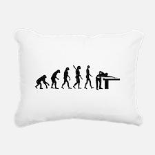 Evolution Billiards Rectangular Canvas Pillow