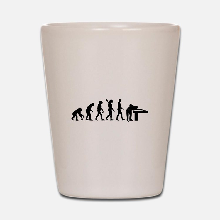 Evolution Billiards Shot Glass