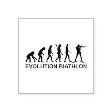 "Evolution Biathlon Square Sticker 3"" x 3"""