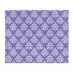 Damask Lavender Throw Blanket