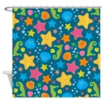 Sea Creatures Ocean Shower Curtain