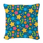 Sea Creatures Ocean Woven Throw Pillow