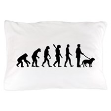 Evolution Walk the dog Pillow Case