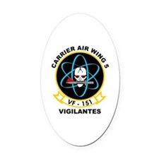 Carrier Air Wing 5 VF-151 Oval Car Magnet