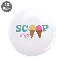 """Scoop It Up 3.5"""" Button (10 pack)"""