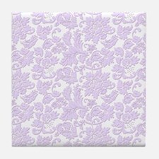Cute Purple Tile Coaster