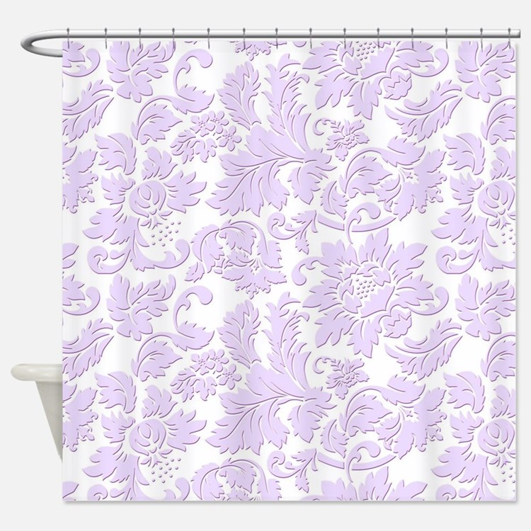 Lavender Shower Curtains | Lavender Fabric Shower Curtain ... Lavender Shower Curtains