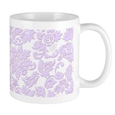 Elegant purple monochromatic vintage floral damask