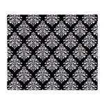 Damask black white Throw Blanket
