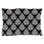 Damask black white Pillow Case