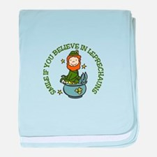 Believe In Leprechauns baby blanket
