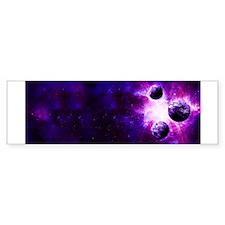 Purple Planet Art Bumper Bumper Sticker