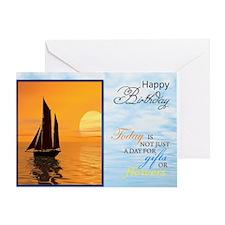 Cute Birthday water sports Greeting Card