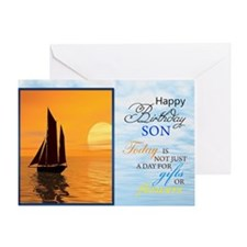 Funny Birthday water sports Greeting Card
