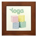Yoga Baby Blocks Framed Tile