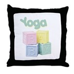Yoga Baby Blocks Throw Pillow