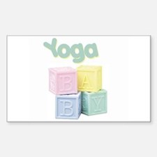 Yoga Baby Blocks Rectangle Decal