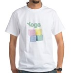 Yoga Baby Blocks White T-shirt