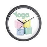 Yoga Baby Blocks Wall Clock