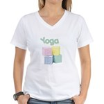 Yoga Baby Blocks Women's V-Neck T-Shirt
