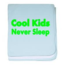 Cool KIds Never Sleep baby blanket