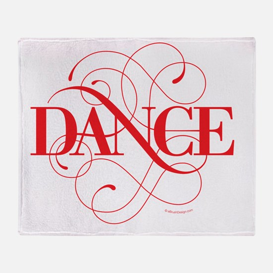 Dance Flourish Throw Blanket