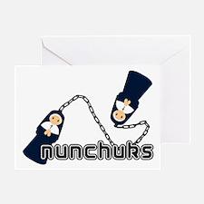 nunchuks Greeting Card