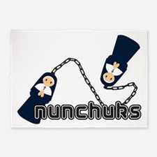 nunchuks 5'x7'Area Rug