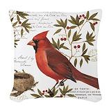 Cardinal Woven Pillows