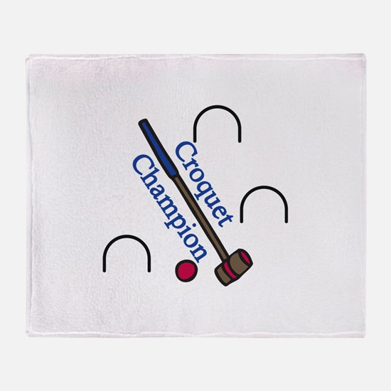 Croquet Champion Throw Blanket