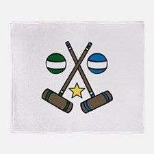 Croquet Gear Throw Blanket