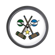 Croquet Gear Wall Clock
