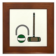 Croquet Equipment Framed Tile