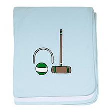 Croquet Equipment baby blanket