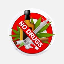 "No Drugs 3.5"" Button"