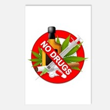 No Drugs Postcards (Package of 8)