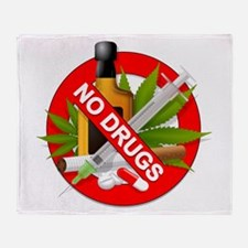 No Drugs Throw Blanket