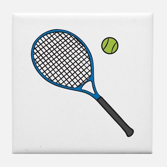 Racquet & Ball Tile Coaster