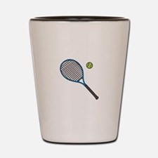 Racquet & Ball Shot Glass