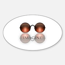 round glasses blk Decal
