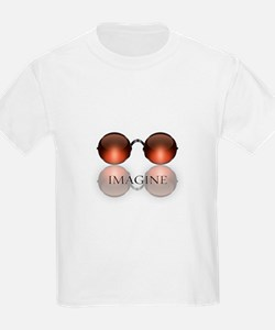 round glasses blk T-Shirt