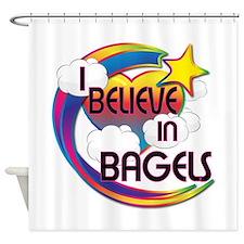 Cute Bagel Shower Curtain