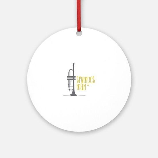 Trumpet Man Ornament (Round)